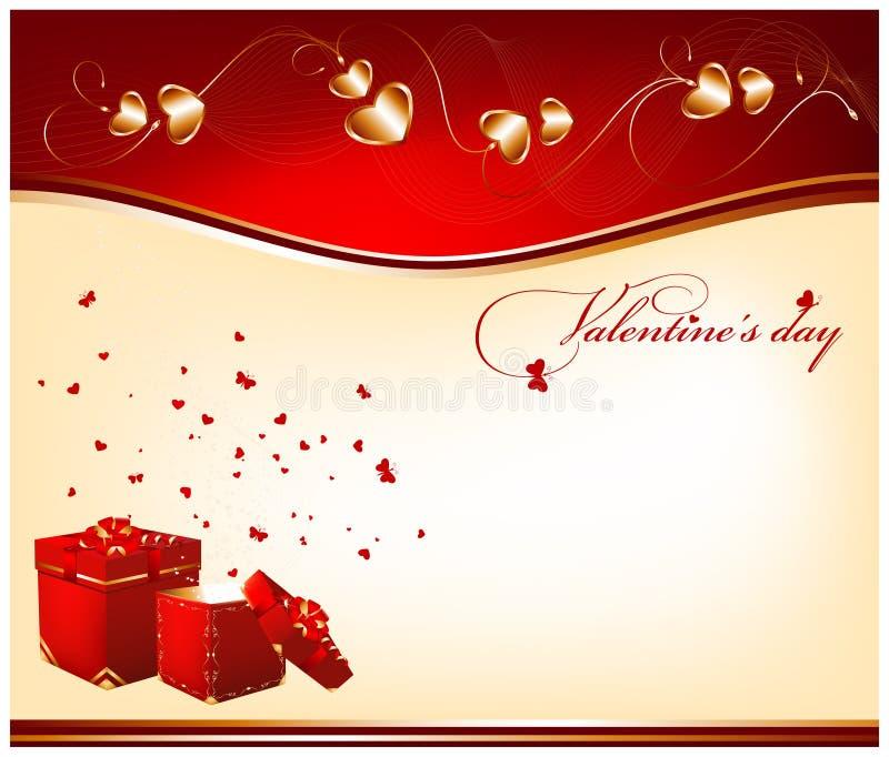Día de tarjeta del día de San Valentín. stock de ilustración