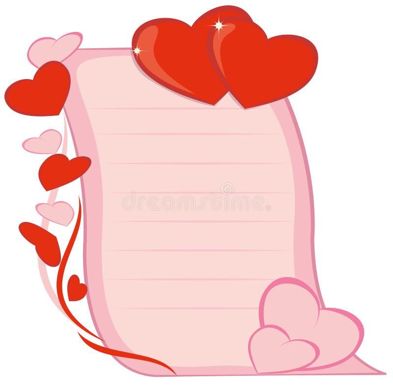 Día de tarjeta del día de San Valentín ilustración del vector