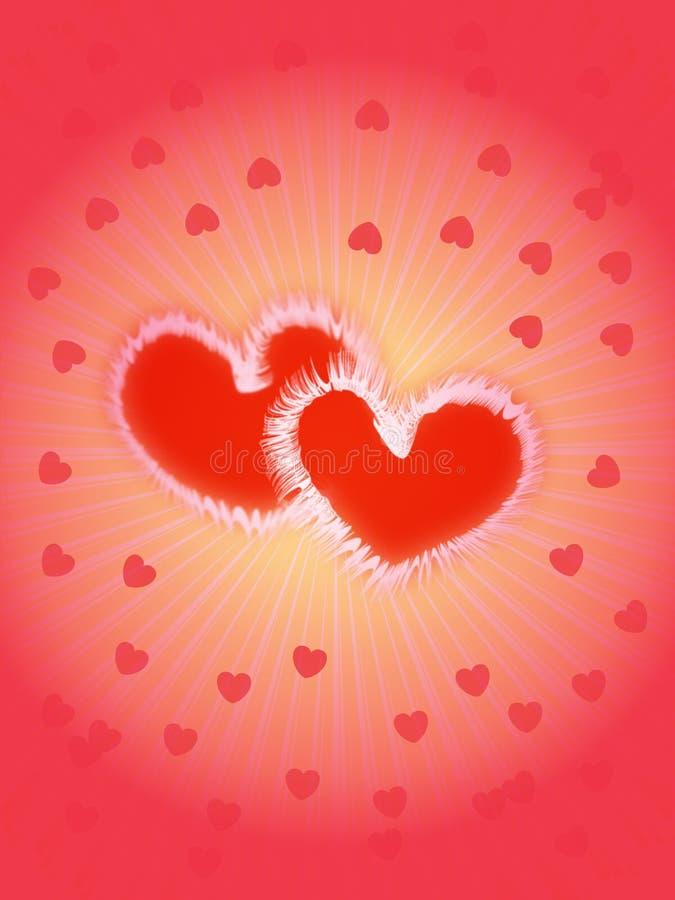 Día de tarjeta del día de San Valentín stock de ilustración