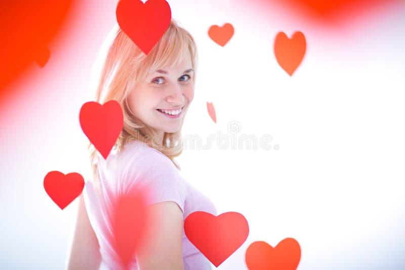 Día de tarjeta del día de San Valentín imagen de archivo