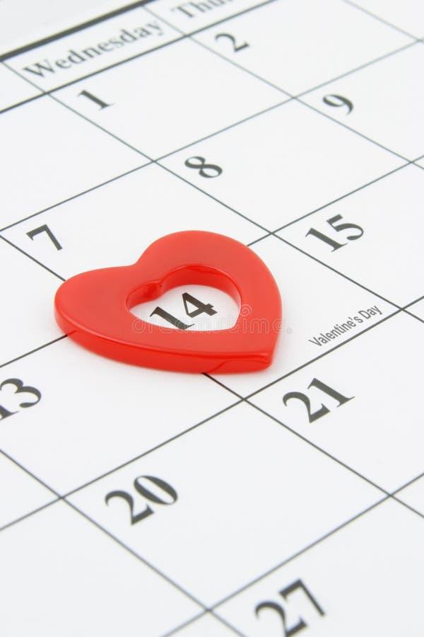 Día de tarjeta del día de San Valentín del 14 de febrero fotos de archivo