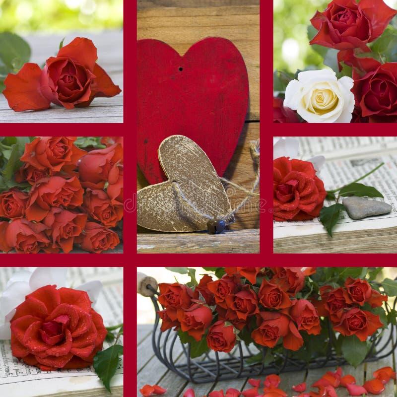 Día de tarjeta del día de San Valentín del collage imagen de archivo libre de regalías