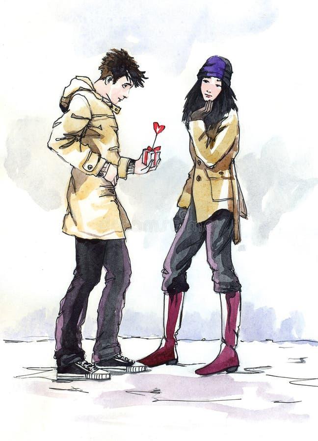 Día de tarjeta del día de San Valentín del santo libre illustration