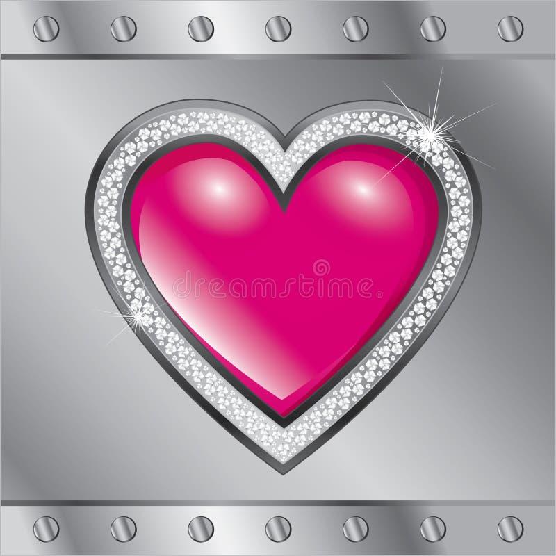 Día de tarjeta del día de San Valentín del santo. Corazón libre illustration