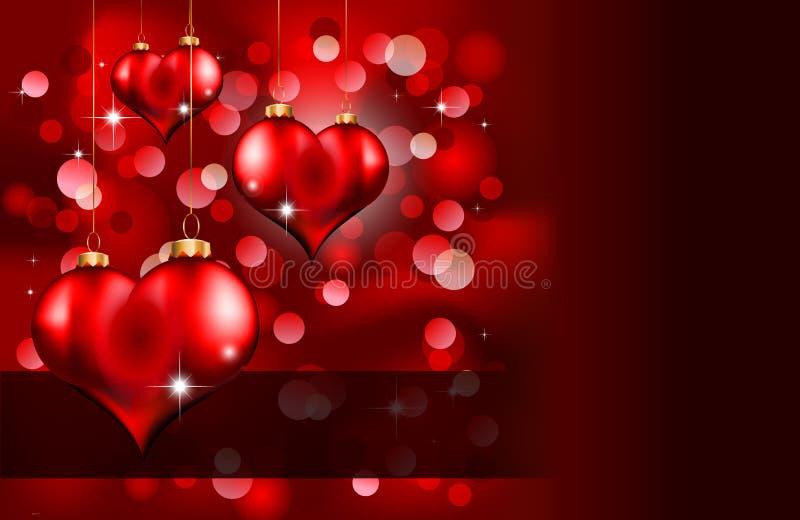 Día de tarjeta del día de San Valentín elegante del rojo y del oro Flayer libre illustration