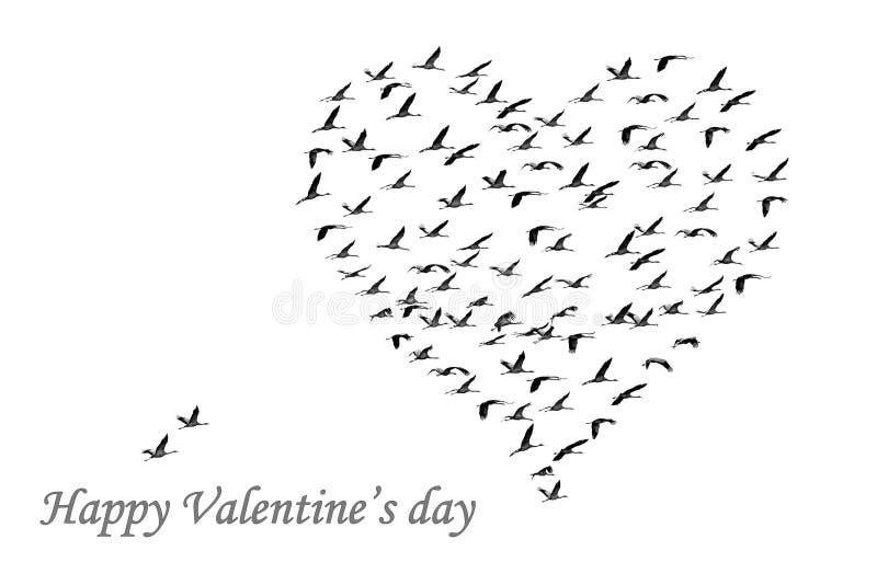 Día de tarjeta del día de San Valentín feliz imagen de archivo