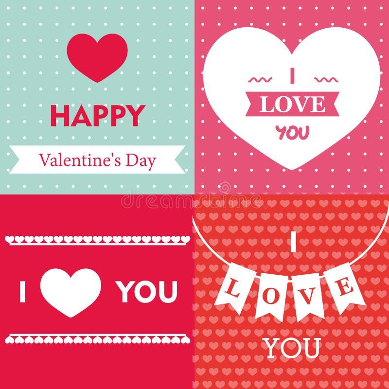 Download Día De Tarjeta Del Día De San Valentín Feliz Ilustración del Vector - Ilustración de ornamento, hermoso: 64211845