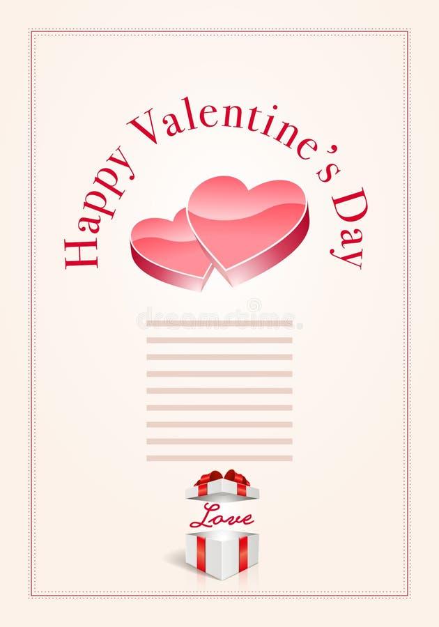 Download Día De Tarjeta Del Día De San Valentín Feliz Ilustración del Vector - Ilustración de saludo, corazón: 64213187