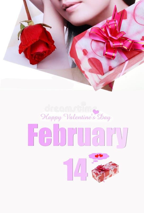 Día de tarjeta del día de San Valentín feliz. fotos de archivo