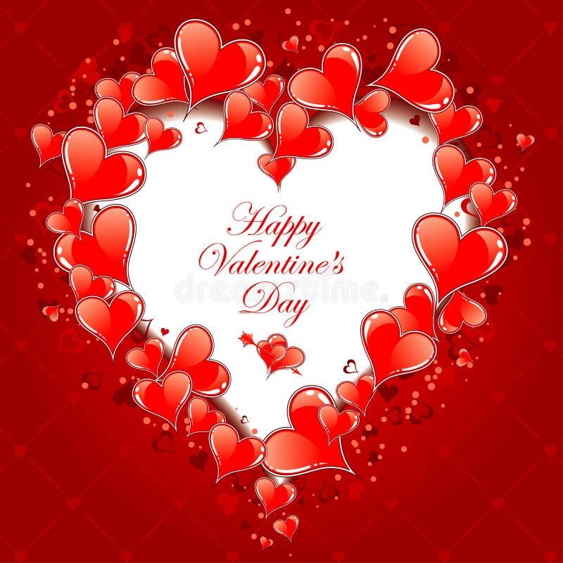 Día de tarjetas del día de San Valentín libre illustration
