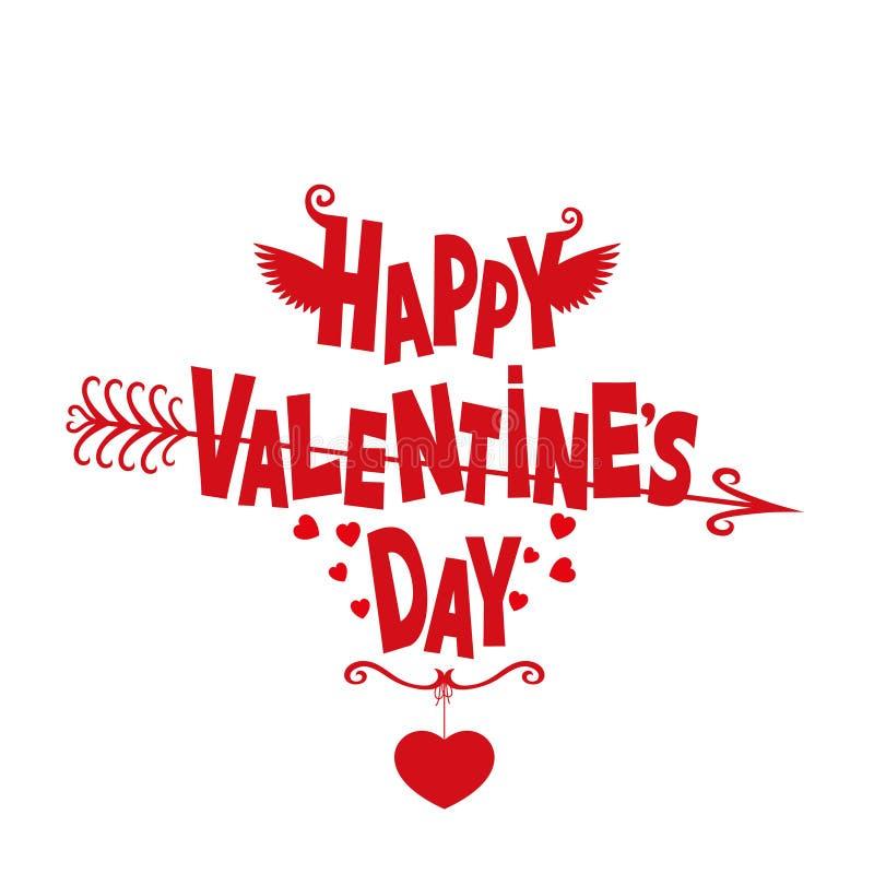 Download Día De Tarjetas Del Día De San Valentín Feliz Ilustración del Vector - Ilustración de shapes, amor: 64207069