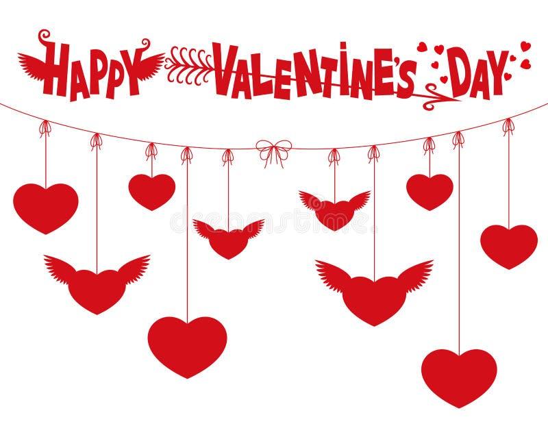 Download Día De Tarjetas Del Día De San Valentín Feliz Ilustración del Vector - Ilustración de corazón, concepto: 64213028