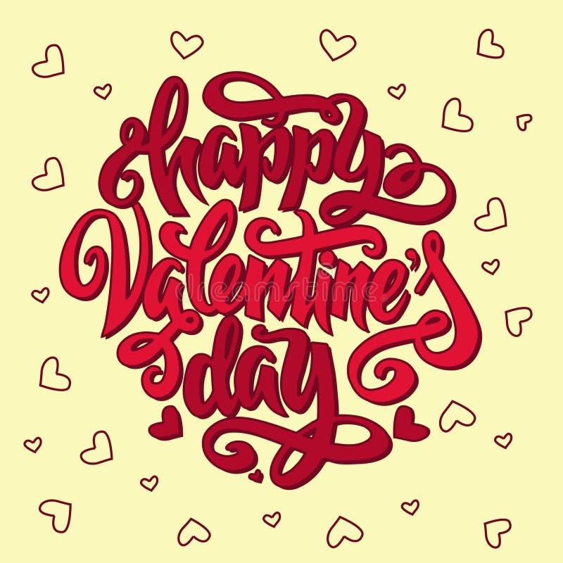 Día de tarjetas del día de San Valentín feliz imagen de archivo