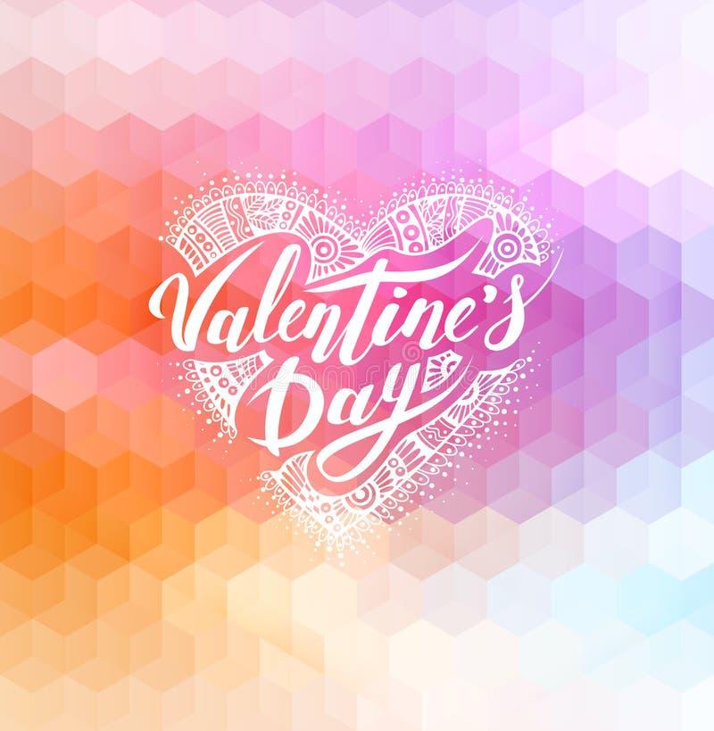Día de tarjetas del día de San Valentín feliz libre illustration