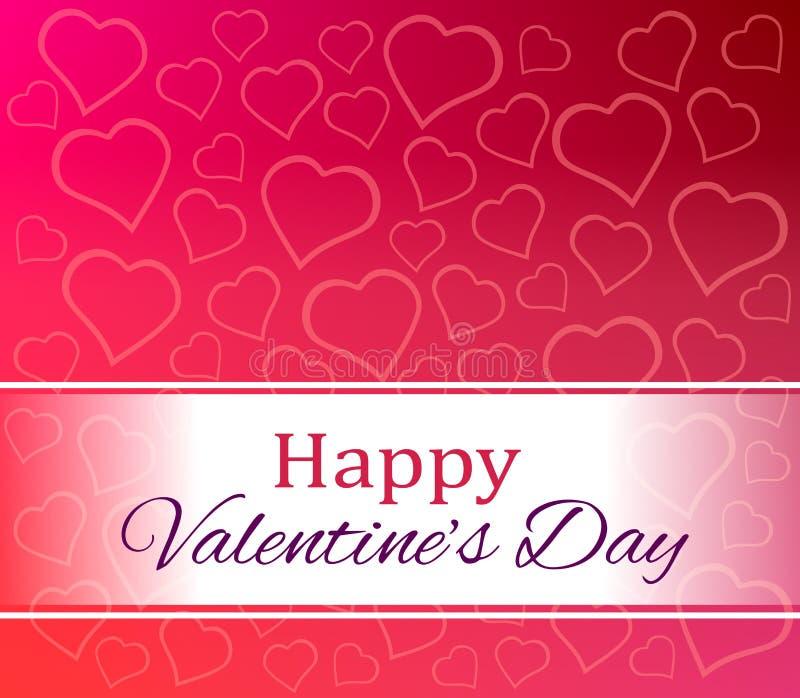 Día de tarjetas del día de San Valentín feliz de los corazones del amor fotografía de archivo