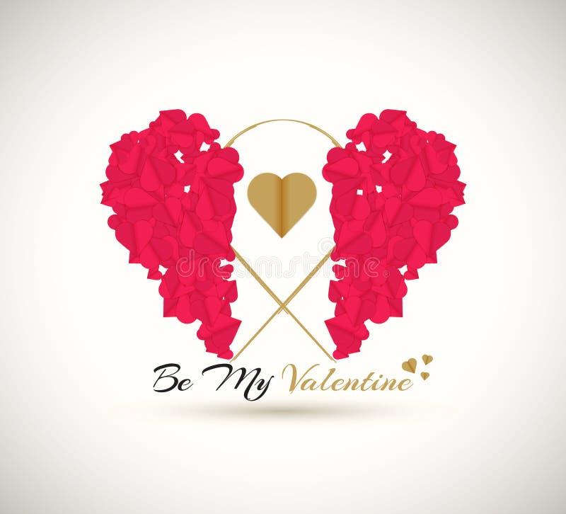 Día de tarjetas del día de San Valentín feliz Sea mi tarjeta del día de San Valentín libre illustration