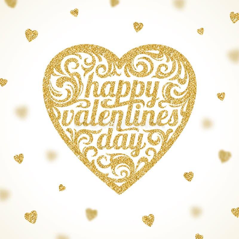 Día de tarjetas del día de San Valentín feliz - tarjeta de felicitación libre illustration