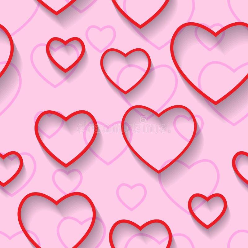 Día de tarjetas del día de San Valentín feliz inconsútil Amor y felicidad stock de ilustración