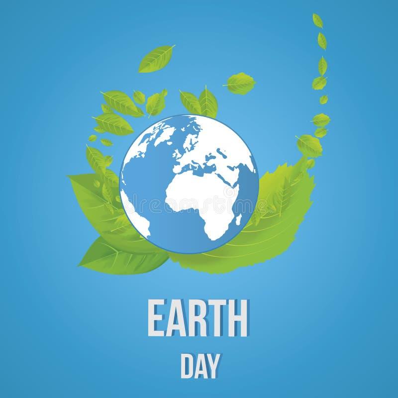 Día de tierra Concepto de la ecología libre illustration