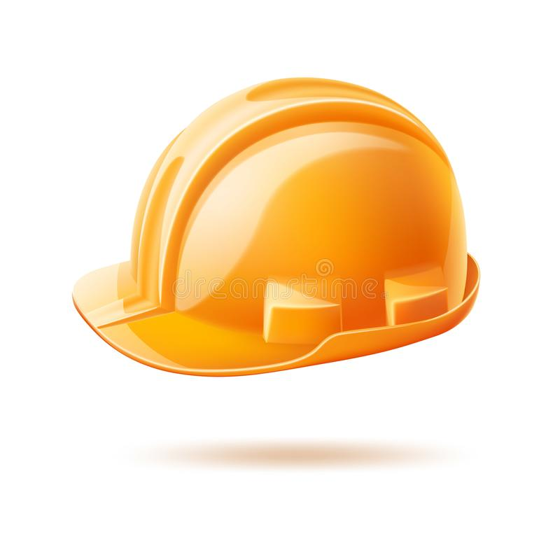 Día de trabajo del casco del vector del casco realista del safery ilustración del vector