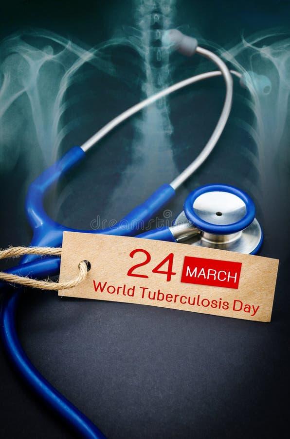 Día de tuberculosis de mundo fotografía de archivo