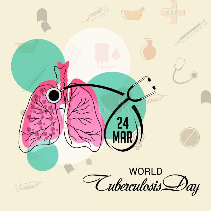 Día De Tuberculosis De Mundo Stock de ilustración - Ilustración de ...