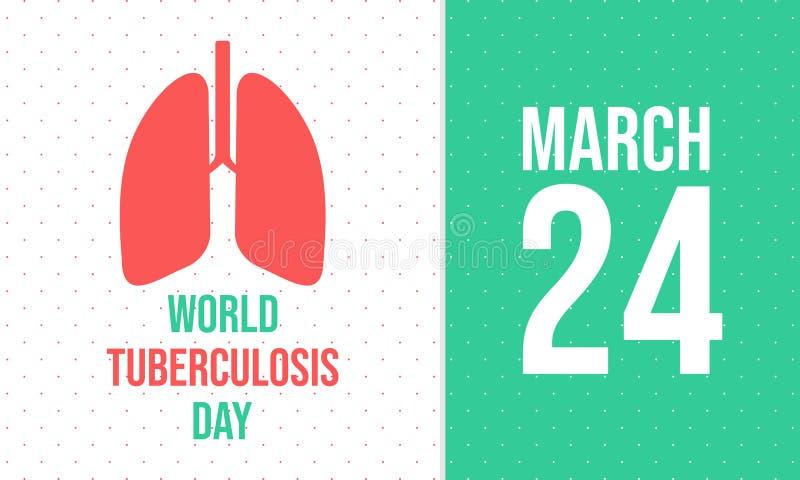 Día de tuberculosis de mundo 24 de marzo - vector libre illustration