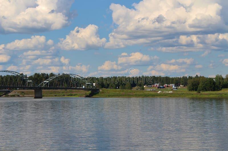 Día de verano en Gäddvik en LuleÃ¥ imagen de archivo