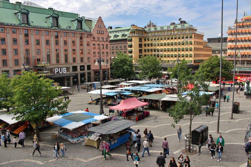 Día de verano en Hötorget fotografía de archivo