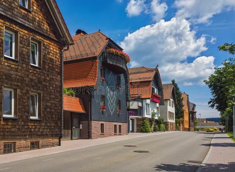Día de verano en la ciudad alemana de Freudenstadt foto de archivo