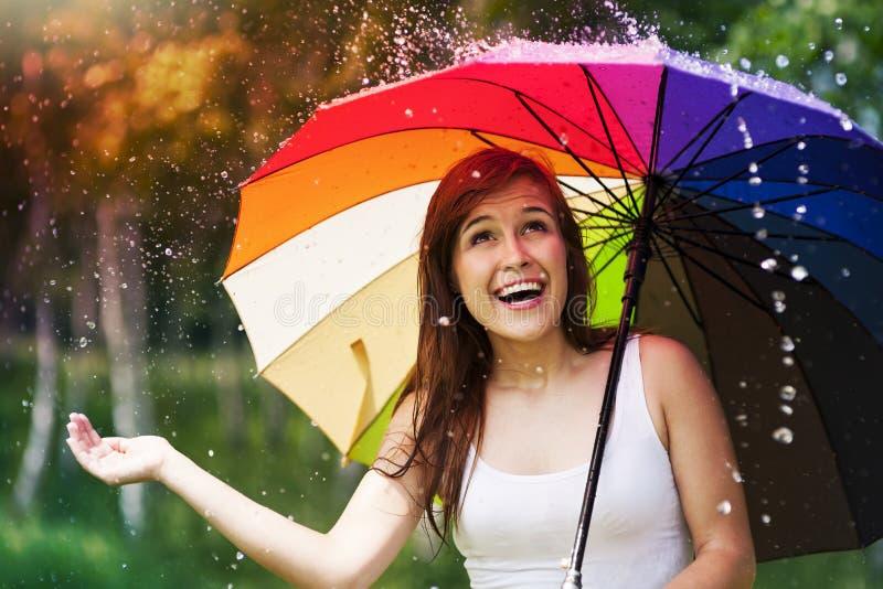 Día de verano lluvioso fotografía de archivo libre de regalías
