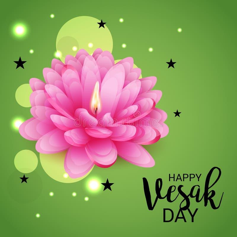Día de Vesak con Lotus Flower rosada libre illustration