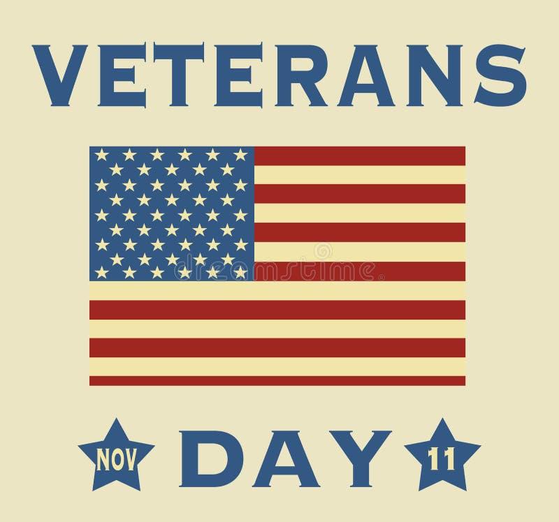 Día de veteranos stock de ilustración