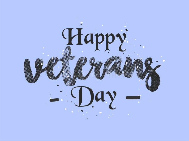 Día de veteranos Honrando a todos que sirvieron libre illustration