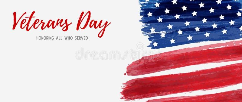 Día de veteranos de los E.E.U.U. ilustración del vector