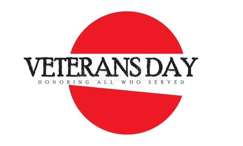 Día de veteranos que honra a todos que sirvieron ilustración del vector
