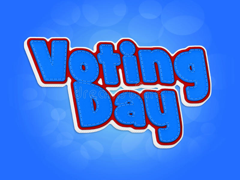 Día de votación stock de ilustración