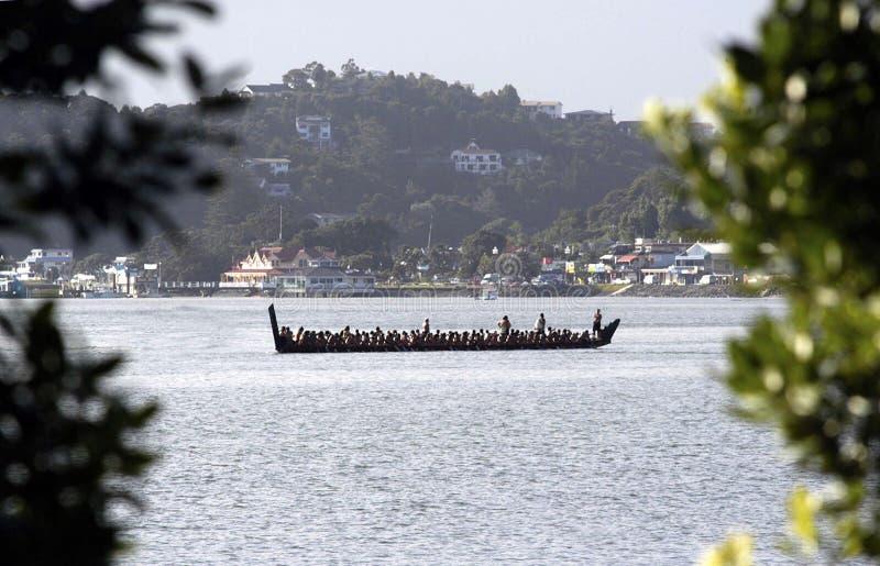 Día de Waitangi - día festivo de Nueva Zelanda foto de archivo