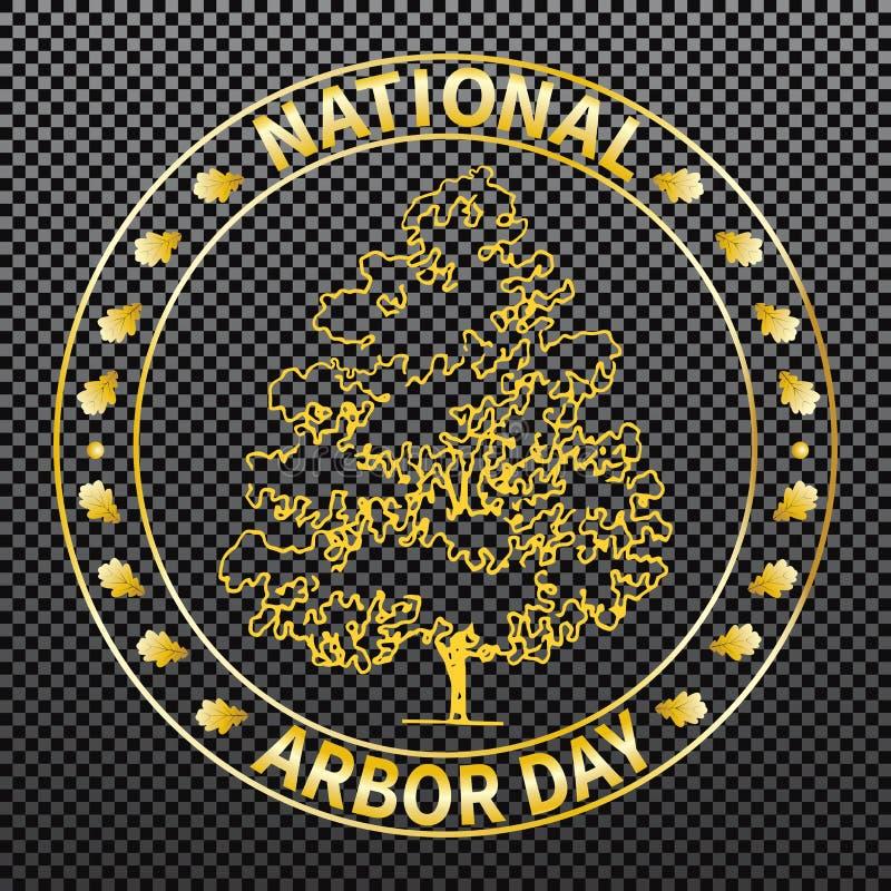 Día del árbol nacional libre illustration