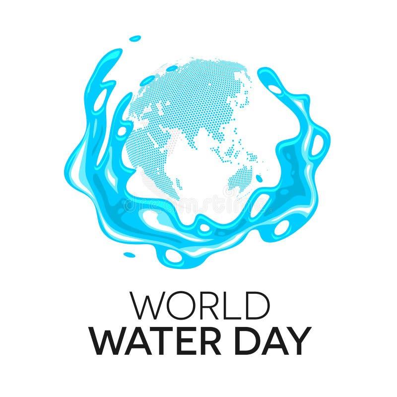 Día del agua del mundo ilustración del vector