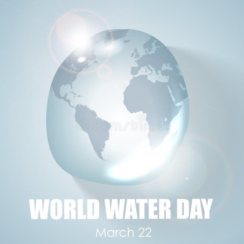 Día del agua del mundo stock de ilustración