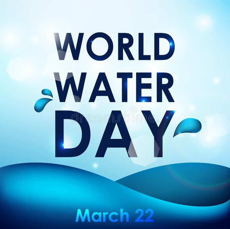 Día del agua del mundo libre illustration