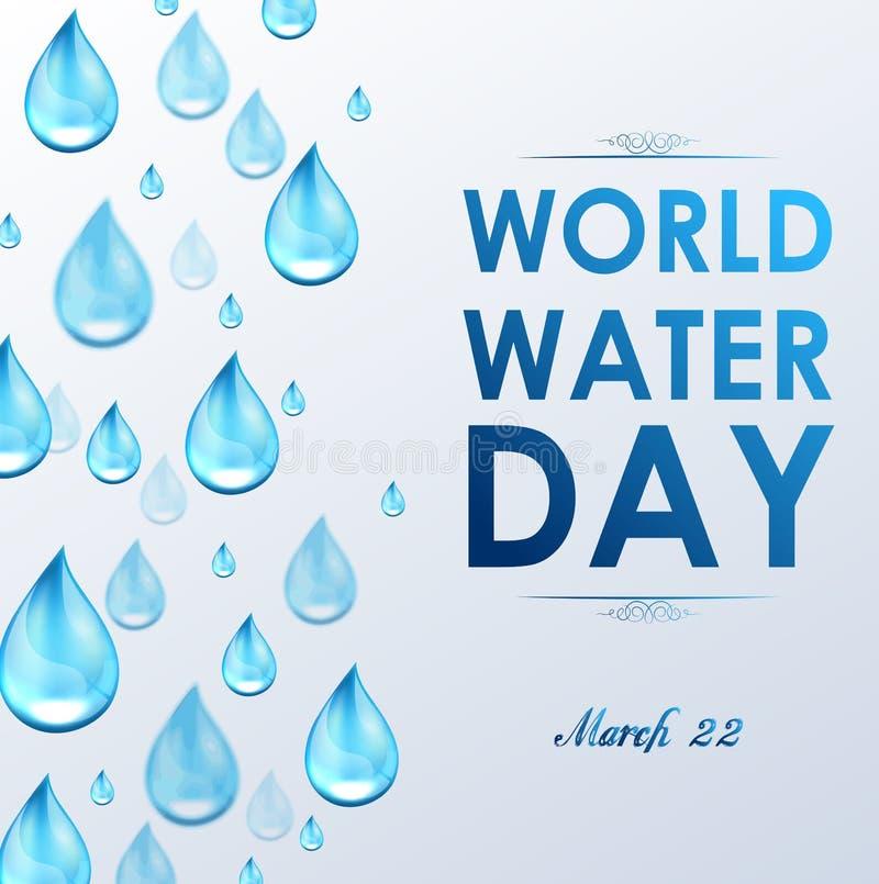 Día del agua del mundo en el fondo blanco libre illustration