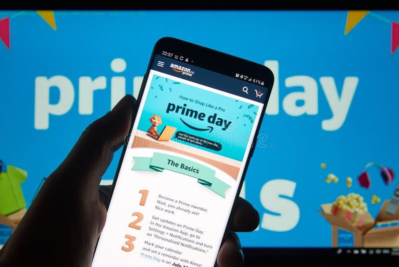 Día del Amazon Prime imagen de archivo libre de regalías