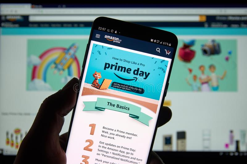 Día del Amazon Prime imágenes de archivo libres de regalías