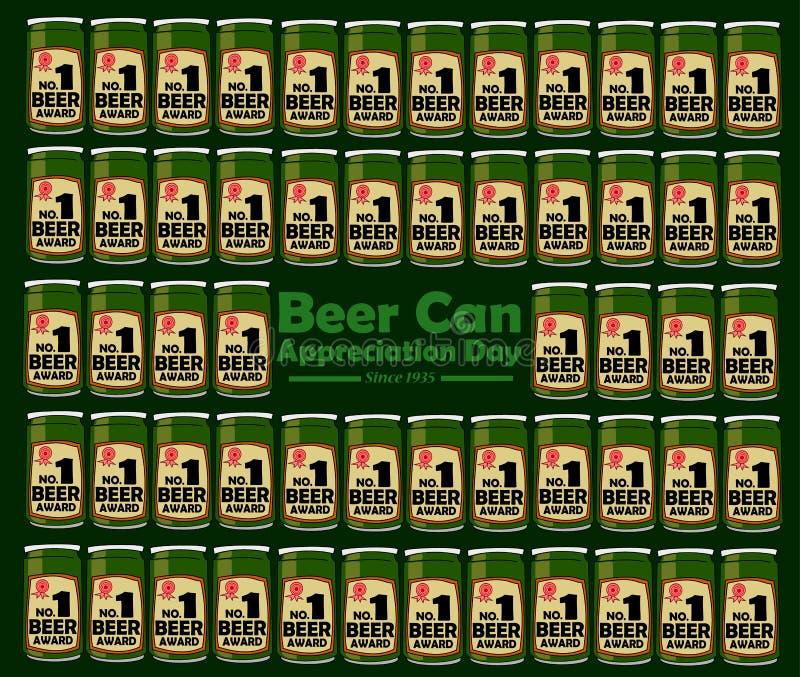 Día del aprecio de la lata de cerveza foto de archivo libre de regalías