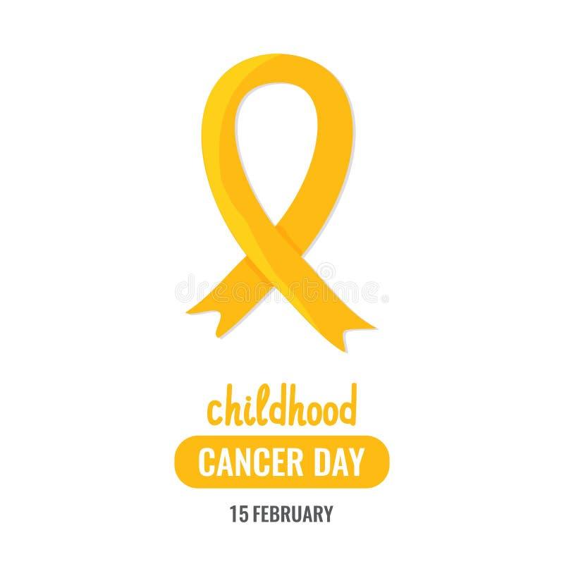 Día del cáncer de la niñez del mundo libre illustration