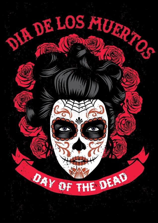 Día del cartel muerto libre illustration