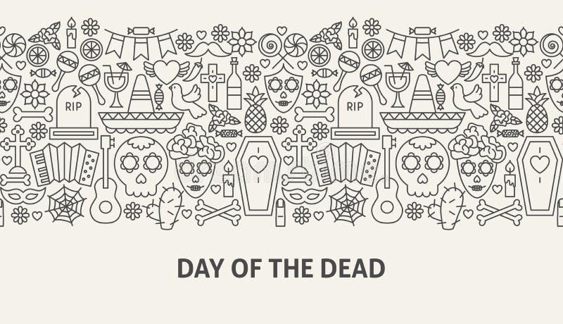 Día del concepto muerto de la bandera stock de ilustración