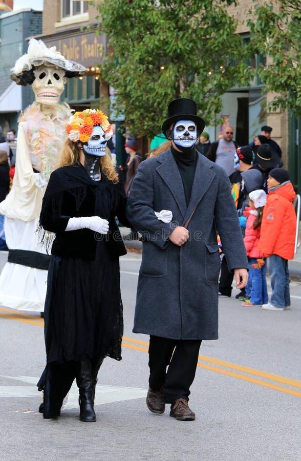 Día del desfile muerto imagenes de archivo